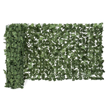 Best Choice Products Outdoor Garden 94x39-inch Artificial Faux Ivy Hedge Leaf and Vine Privacy Fence Wall Screen,