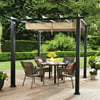 Better Homes and Gardens Meritmoor Aluminum/Steel Pergola with Single-Finish