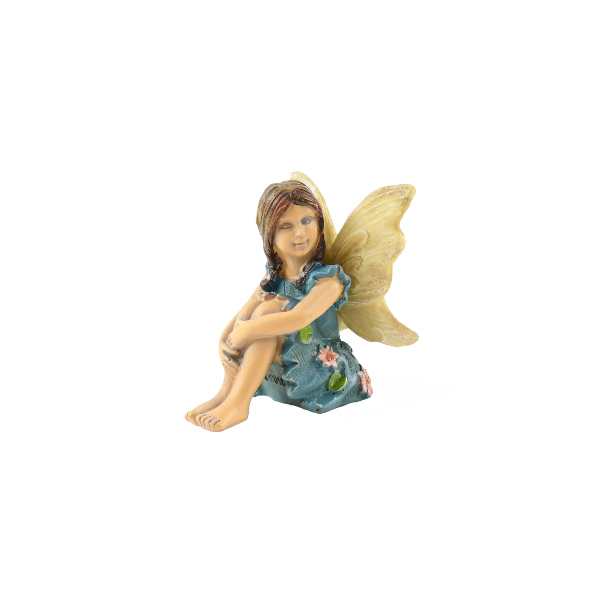 Miniature Fairy Girl Sitting Figurine Garden Accessory Dollhouse Ornament by
