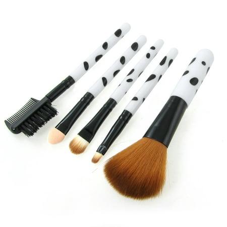 Pure Kabuki Brush - Unique Bargains 5 Pcs Fashionable Makeup Brush Set Foundation Brush Kabuki Blush Brushes Eyeshadow Eyeliner Brushes