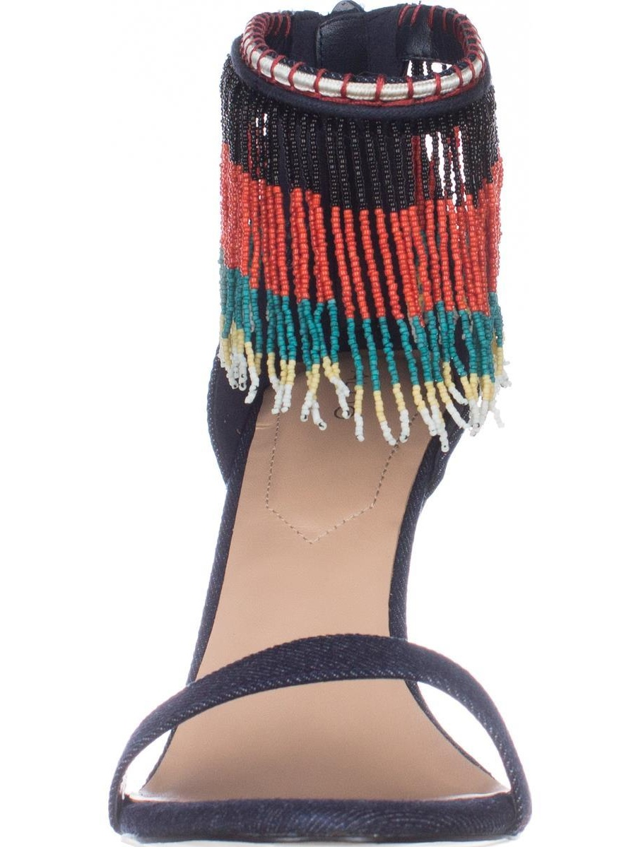 978865d7ed6 ALDO - Womens Aldo Franssie Beaded Fringe Dress Sandals - Medium Blue -  Walmart.com