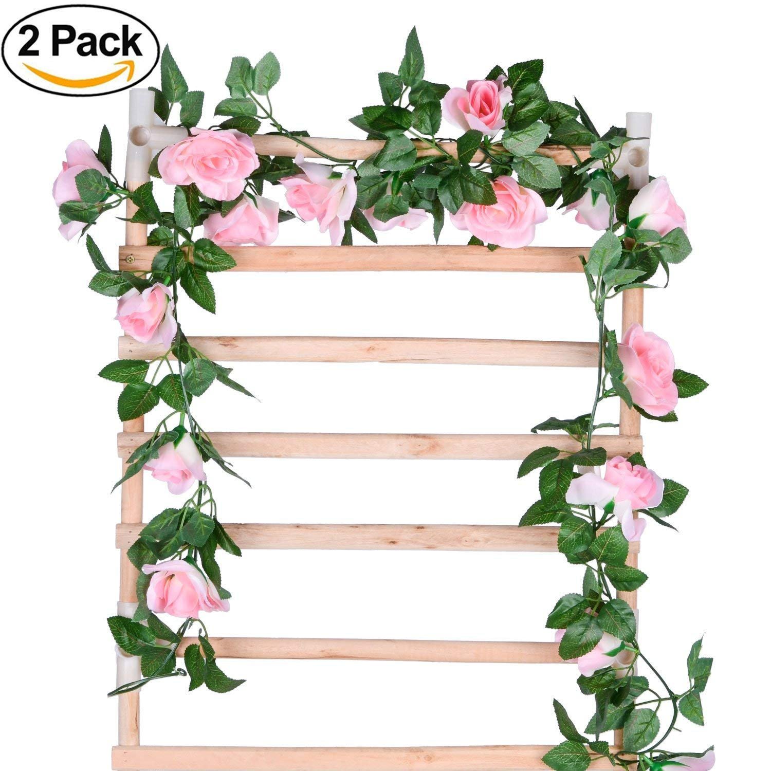 Artificial Patio Planter with Pink /& White Flowers Set of 2