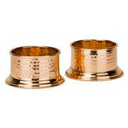 """""""Fez"""" Solid Copper Wine Coasters - Set of 2"""