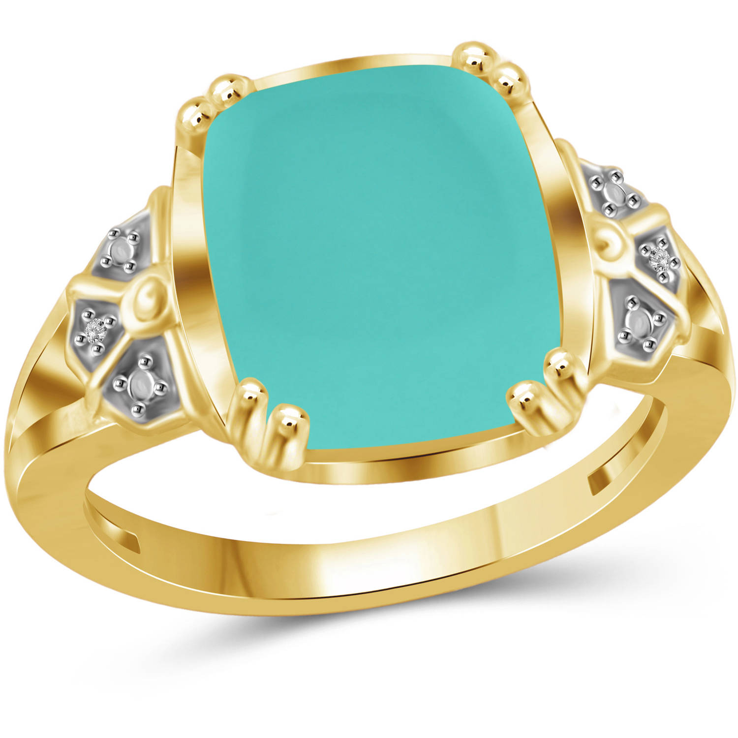 JewelersClub 5 Carat T.G.W. Chalcedony and White Diamond Accent 14kt Gold over Silver Fashion Ring by JewelersClub