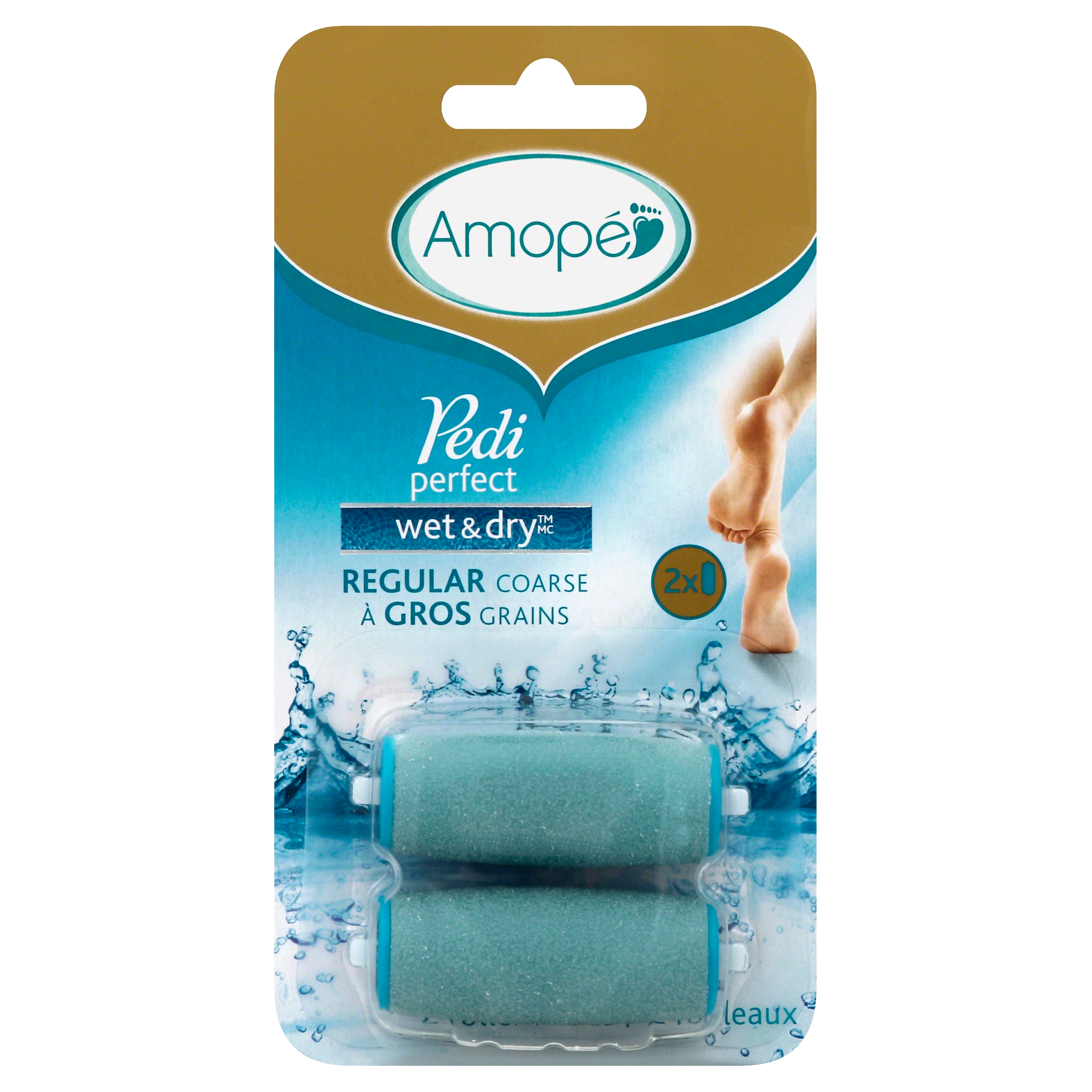 Amope Pedi Perfect Wet & Dry��� Regular Coarse Refills, 2 ct