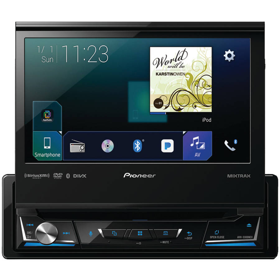 """Pioneer AVH-3300NEX 7"""" Single-DIN In-Dash NEX DVD Receiver with Bluetooth, Apple CarPlay, Android Auto, FLAC Audio... by Pioneer"""