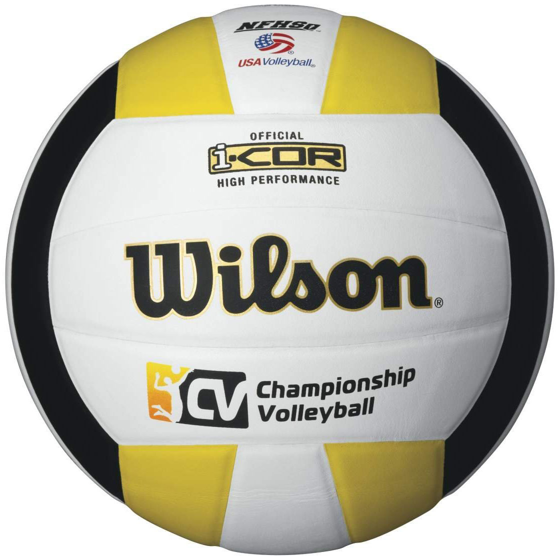 Wilson I-Cor High Performance Indoor Championship Volleyball - White/Black/Gold