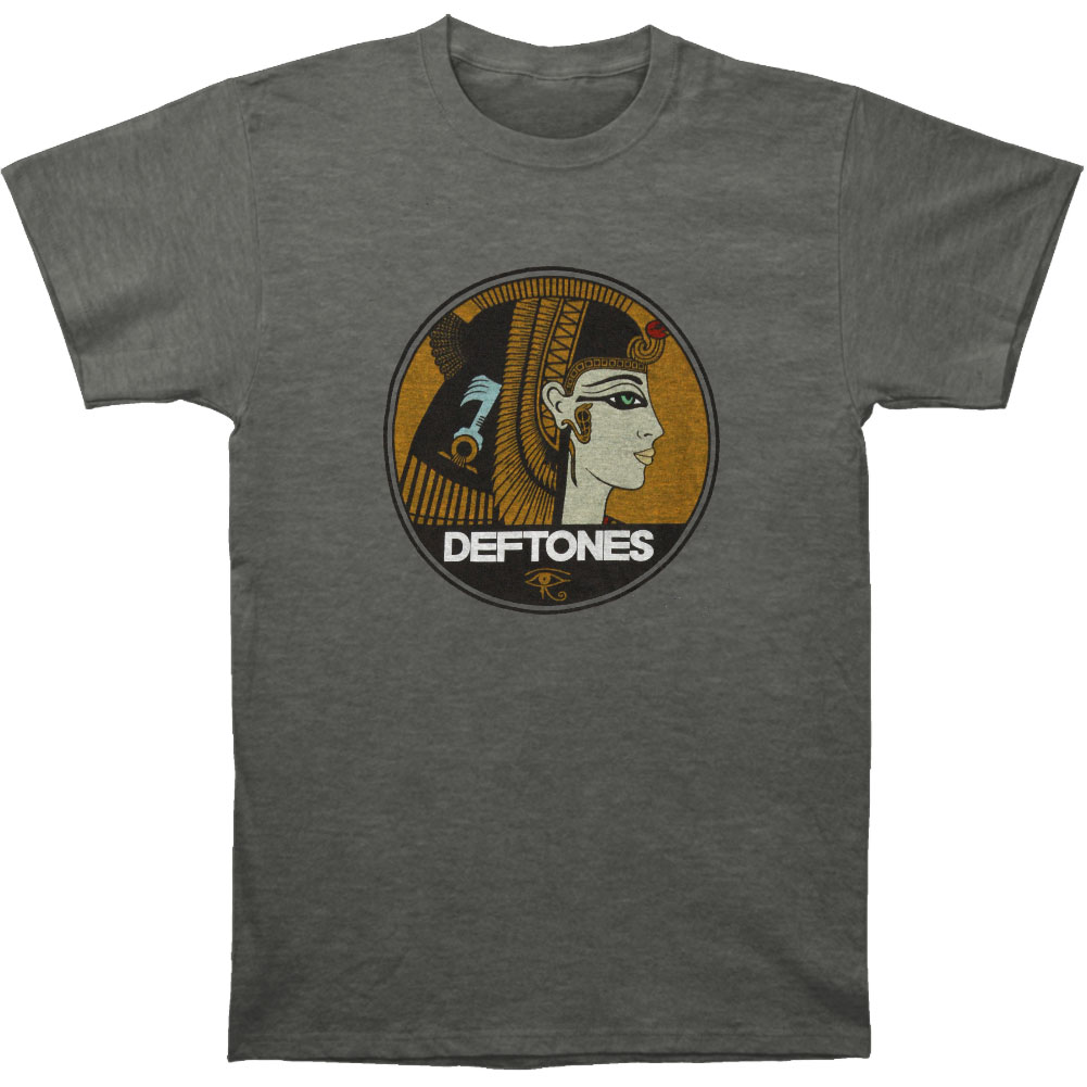 Deftones Men's  Cleopatra Slim Fit T-shirt Heather