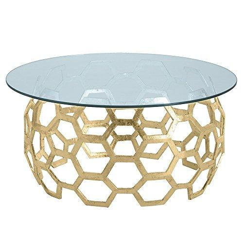 Arteriors DS2011 Dolma 48 Inch Diameter Glass Top Aluminum Table Base by
