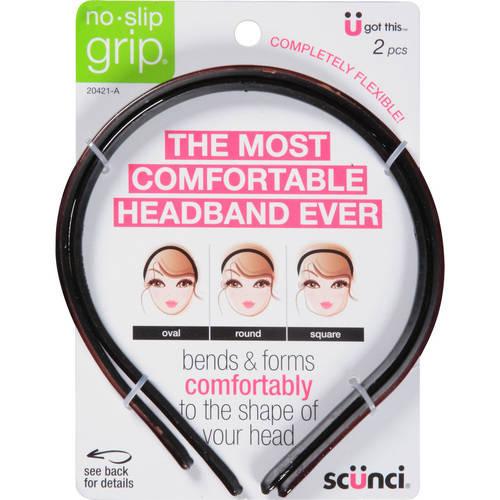 Scunci No-Slip Grip Flexible Headbands, 20421-A, 2 count