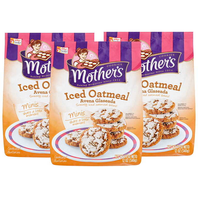 Mother's Iced Oatmeal Mini Cookies Baked with pride, 12 Oz.