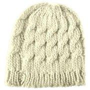Beanie Hat for Women by Winter Warm Crochet Hat Braided Cap - Beige