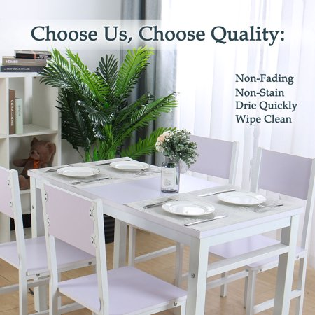 Placemats PVC Heat-resistant Non-slip Insulation Washable Table Mats 4pcs #19 - image 7 of 8