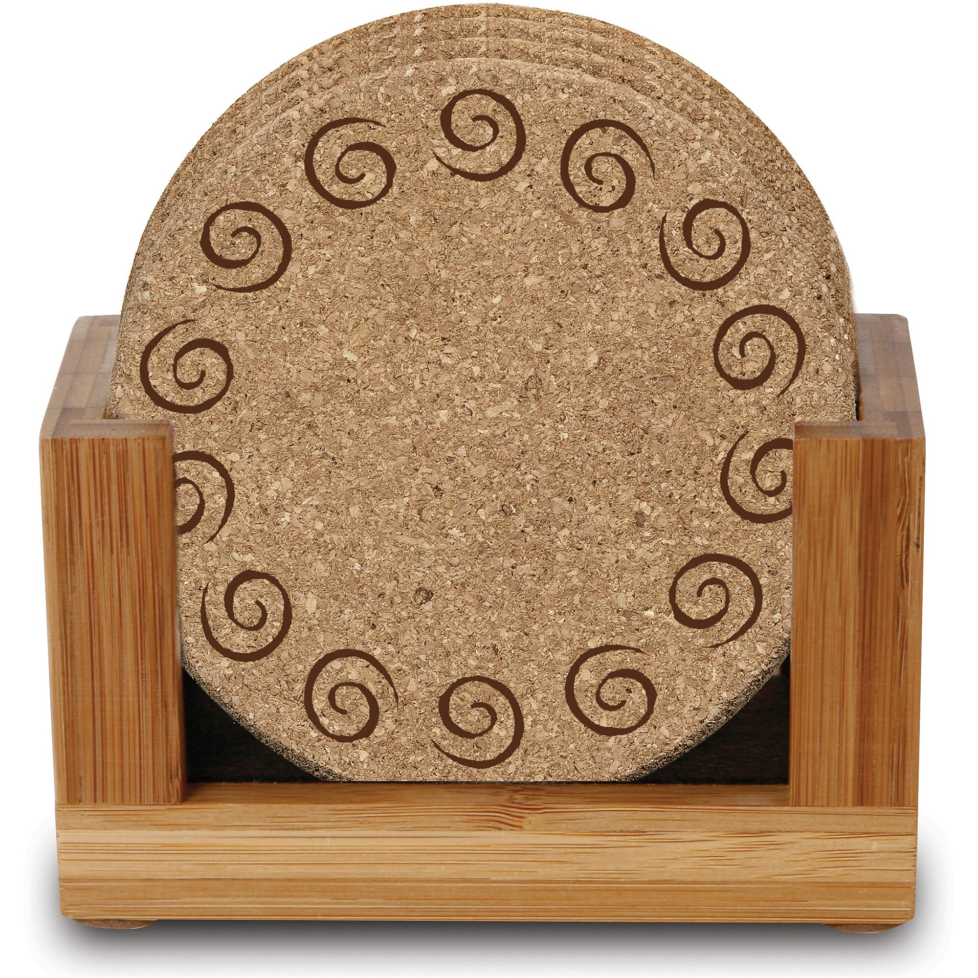 Thirstystone Ambiance Upright Bamboo Holder for Square or Round Drink Coasters