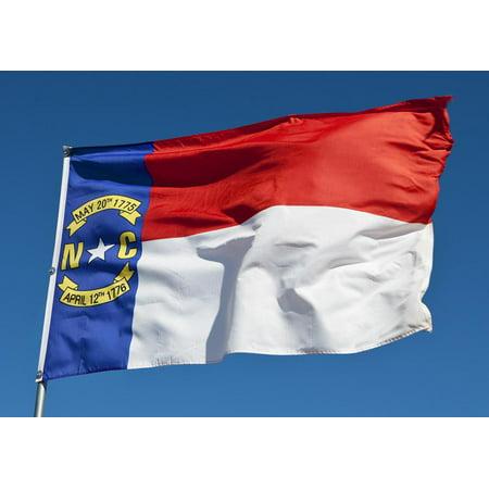 U.S. Flag Store North Carolina State Flag - 4' x 6' - Nylon - PN: 60-100-10067 ()