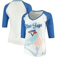 Toronto Blue Jays Forever Collectibles Women's Watermark Baseball T-Shirt - White