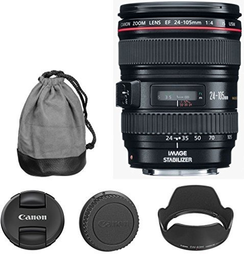 Nikon Canon EF 24-105mm f/4 L IS Zoom Lens for Canon EOS ...