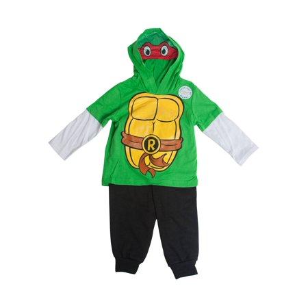 Teenage Mutant Ninja Turtles Raphael Costume Masked Hooded Long-Sleeve (80's Themed Costumes Ideas)