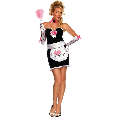 Women's  Adult Playboy Mansion Maid Costume - Playboy Pirate Costume