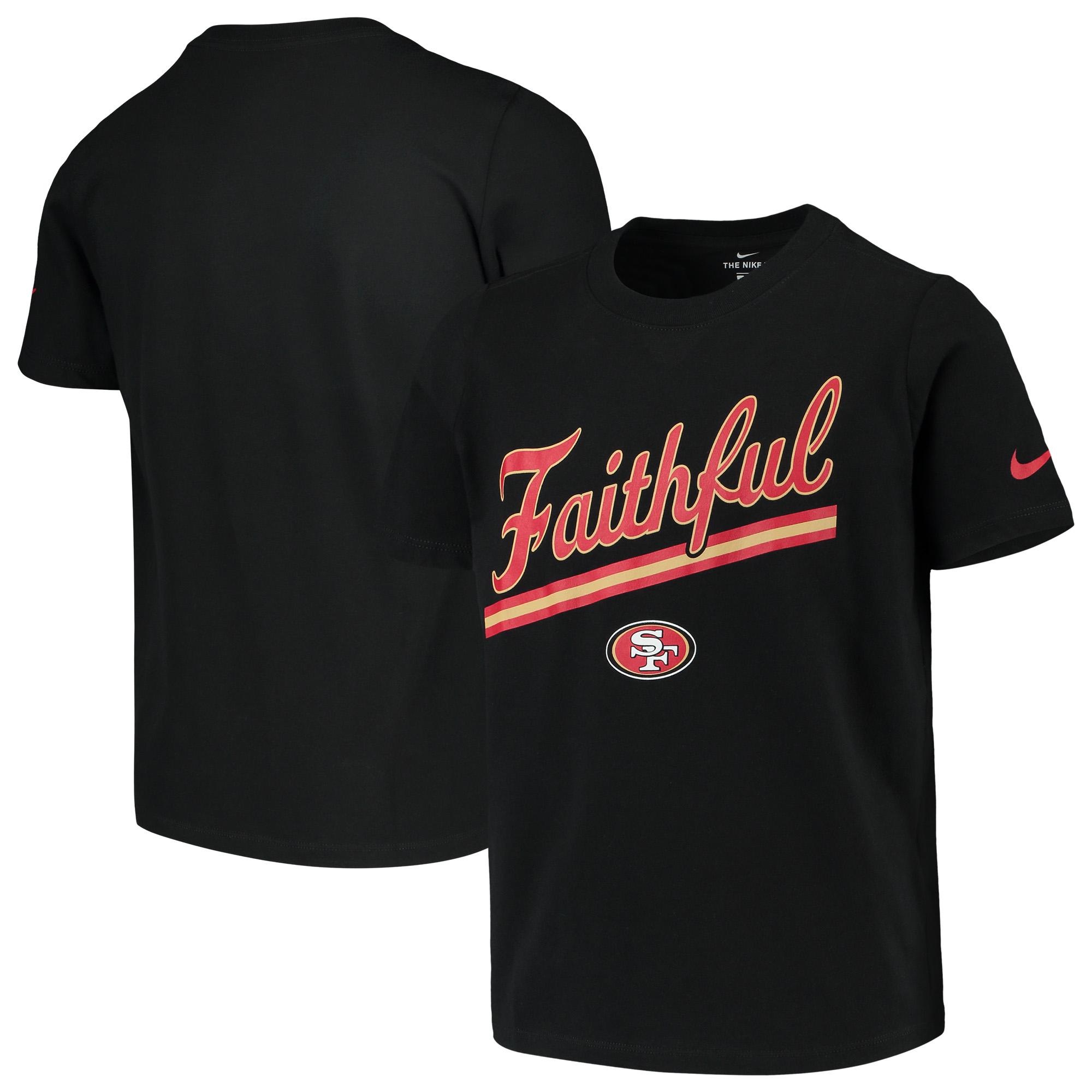 San Francisco 49ers Nike Youth Hyperlocal Inspiration Performance T-Shirt - Black