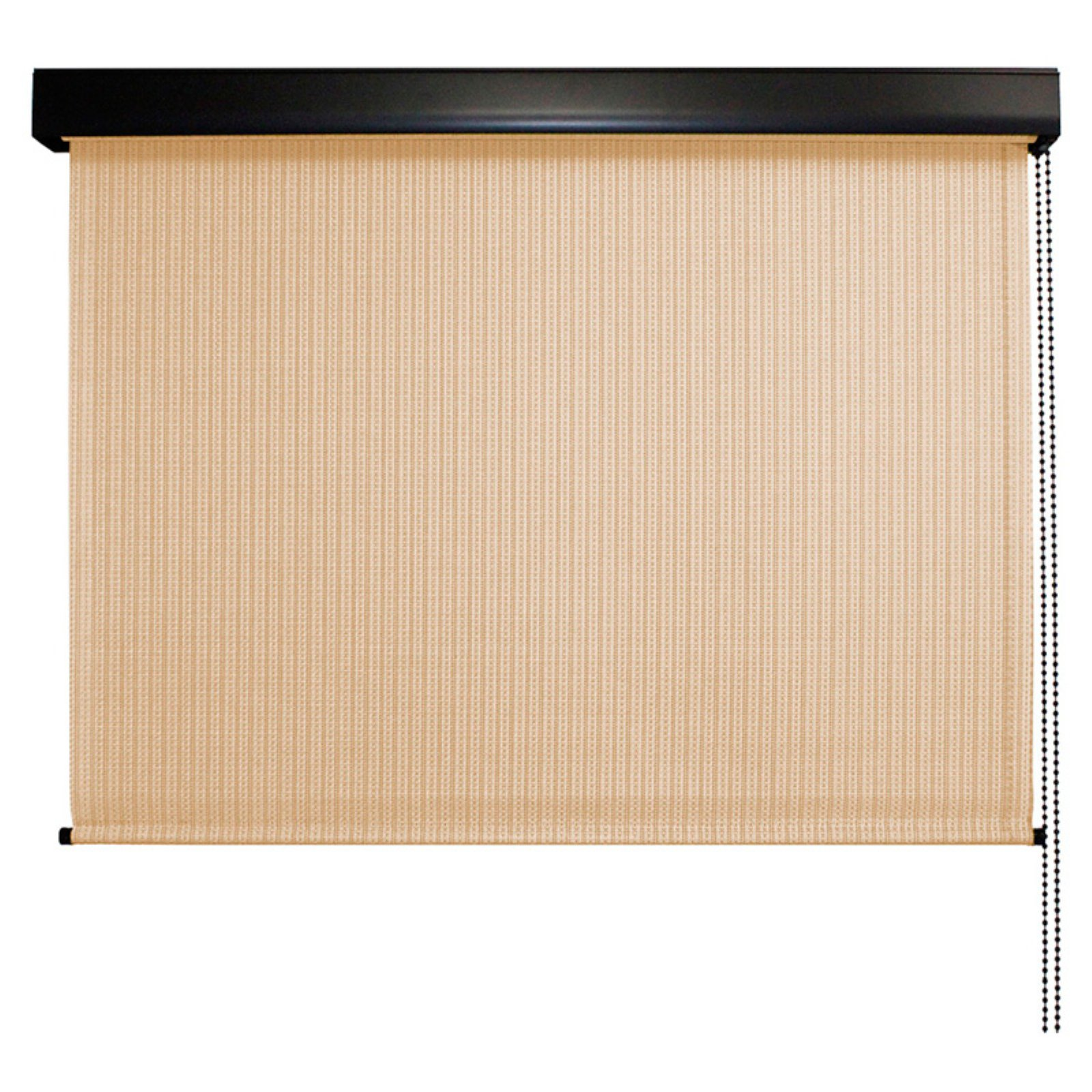 Keystone Fabrics, Valanced, Cord Operated, Outdoor Solar Shade, 8' Wide x 8' Drop, Telluride