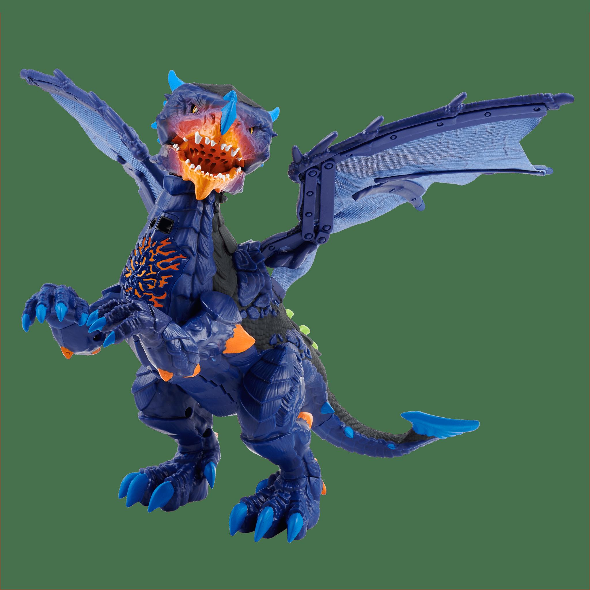 Untamed Legends Dragon - Vulcan (Dark Blue) - Interactive Toy
