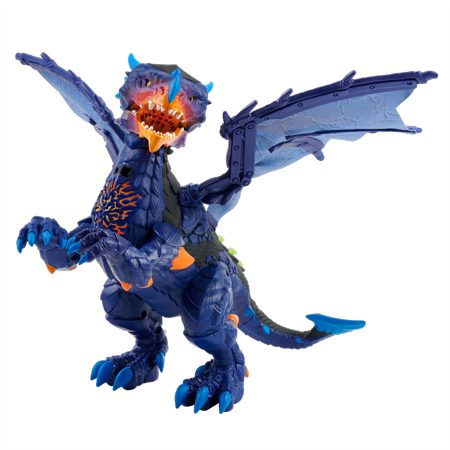 Untamed Legends Dragon - Vulcan (Dark Blue) - Interactive Toy