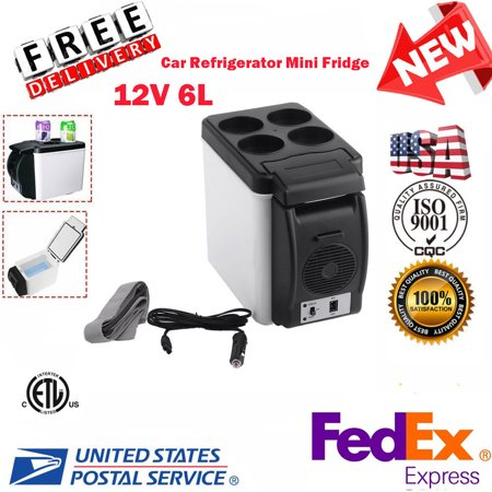 Iuhan 12V 6L Car Mini Fridge Portable Thermoelectric Cooler Warmer Travel Refrigerato (Tool Fridge)
