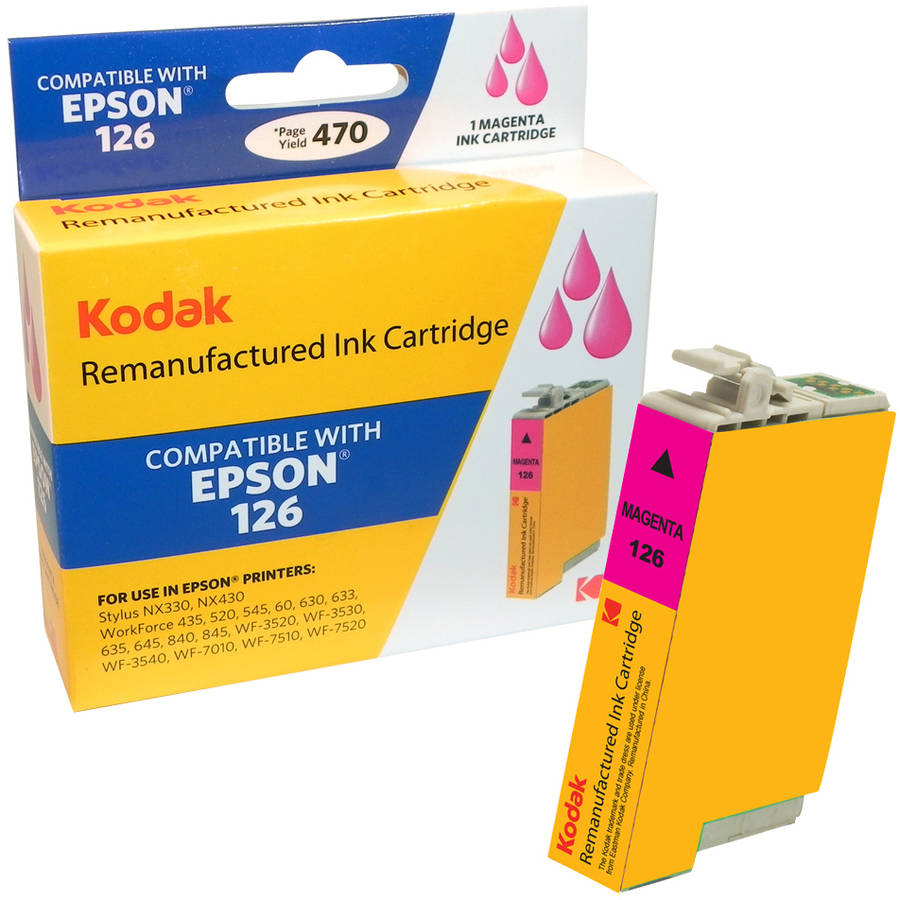 Kodak Remanufactured Ink Cartridge Compatible with Epson 126 (T126320) High-Yield Magenta