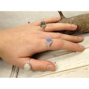 Laura J Designs r45 Sterling Silver Baby Druzy Ring, Size 6