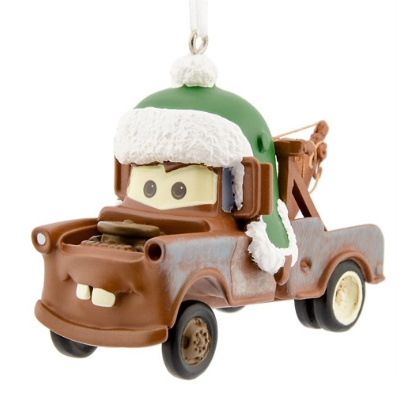 Disney Cars Tow Mater Christmas Tree Ornament Brown Tow Truck