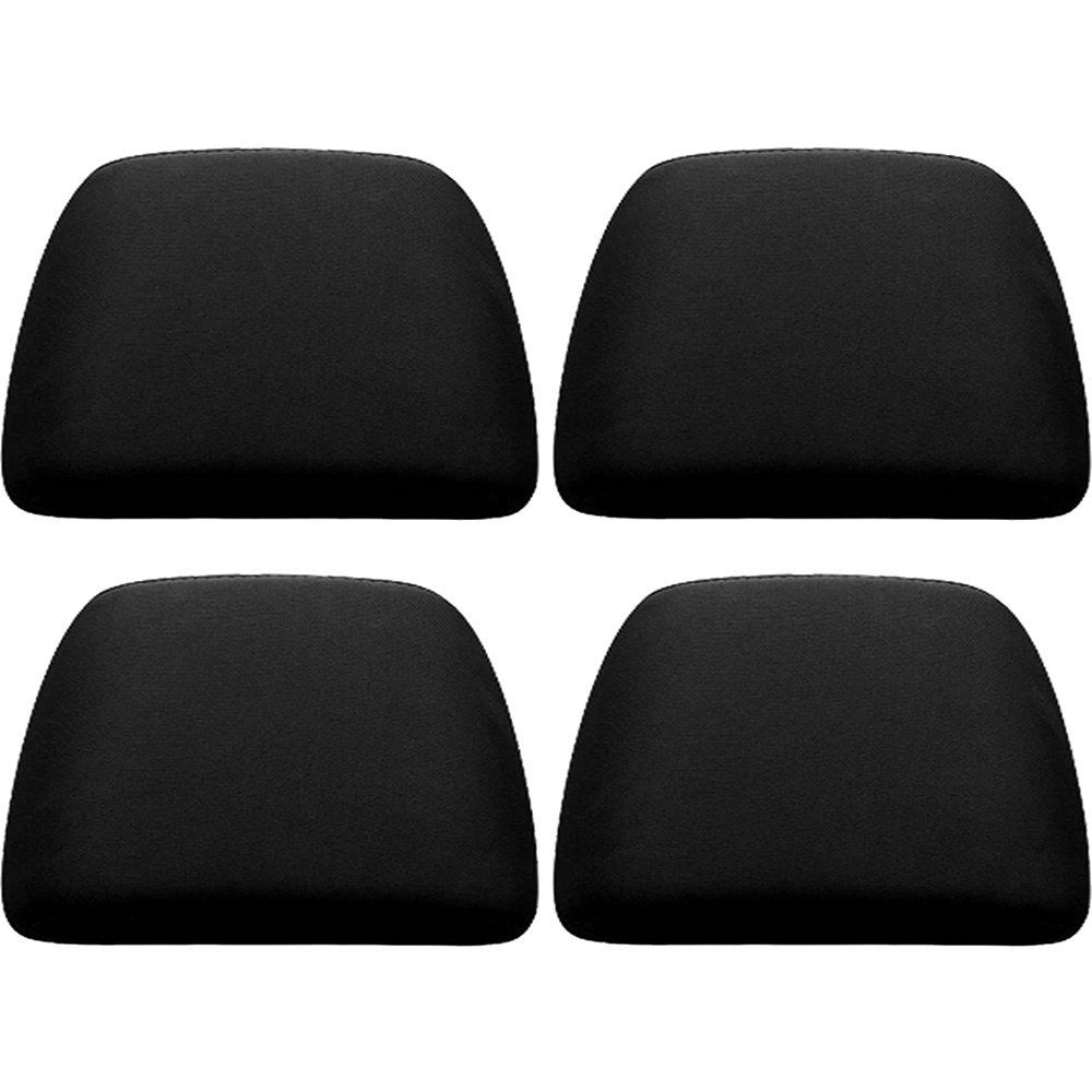 U.A.A. INC. BLACK 4 piece Soft Polyester Universal Fit Head Rest Cover Car Truck Suv VAN