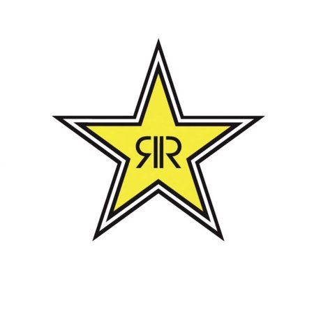 Factory Effex 15-94730 Rockstar Energy Drink 12in. Die-Cut Sticker - Star Logo - Factory Effex Decals
