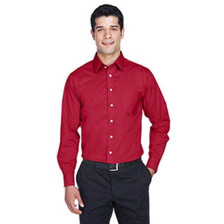 """Men's Crown Collectionâ""""¢ Solid Stretch Twill - RED - XS"""
