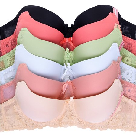 Uni Style Apparel Womens Full Cup Plain Lace Bra and Lace Bikini (Lace Maternity Bikini)