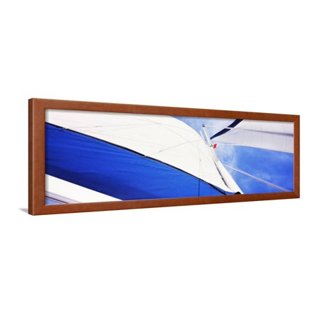 Low Angle View of Sails on a Sailboat, Gulf of California, La Paz, Baja California Sur, Mexico Framed Print Wall