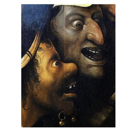 Mocking Faces, from Christ Carrying the Cross, C. 1490 (Detail) Print Wall Art By Hieronymus Bosch