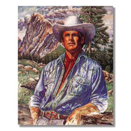 Rancher at Farm w/ Elbow on Fence Western Cowboy Wall Picture 8x10 Art Print