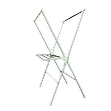 "51"" Tall Adjustable Folding Laundry Drying Rack, White - image 1 de 1"