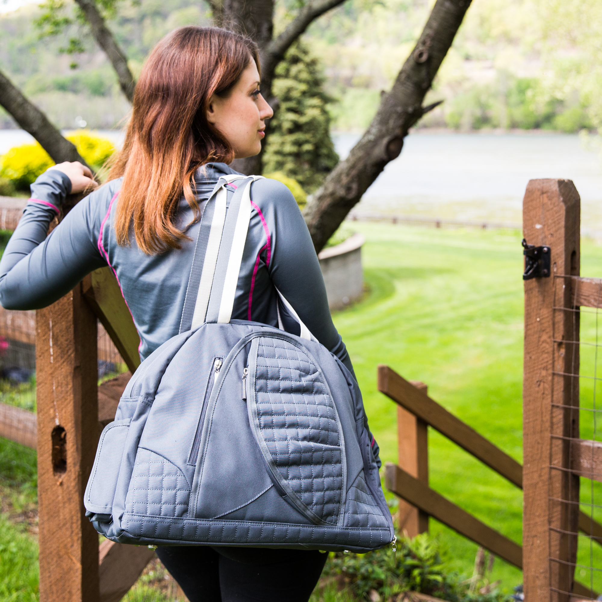 j/fit The Mary Yoga Mat Bag, Dark Grey