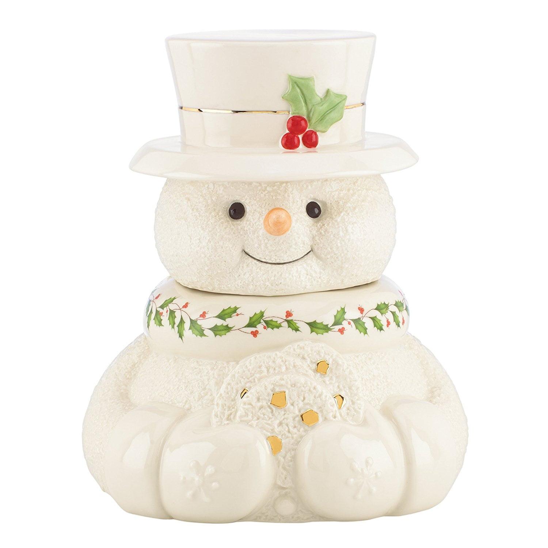 Lenox Happy Holly Days Snowman Cookie Jar by Lenox