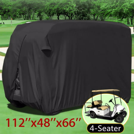 Large Size Durable Waterproof Superior UTV / Golf Cart Cover, for EZGO, for Yamaha, Fits for Most Four-Person UTVs / Golf