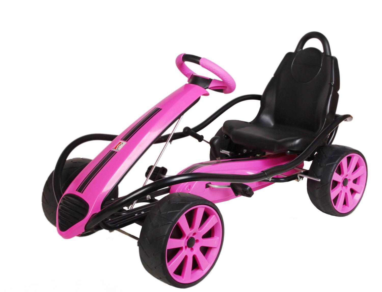 Kiddi-o by Kettler Sport Kid Racer Pedal Car, Pink by
