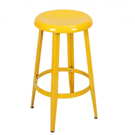 Joveco Metal Round Top Backless 26 Inch Stool Walmart Com