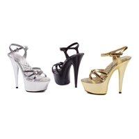 6ebd522660d0b1 609-Kendall Women s Ankle Strap Platform Sandal-Size 9-Silver