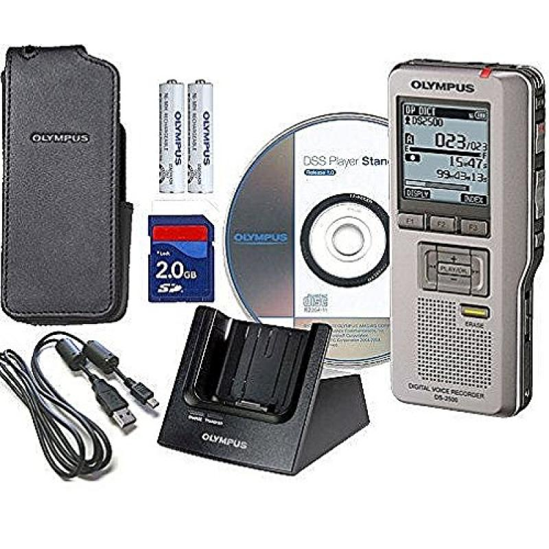 Olympus Digital Voice Recorder with Docking Station, Rech...