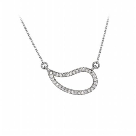 Cubic Zirconia Geometric Necklace in 14K White Gold Geometric Yellow Necklace
