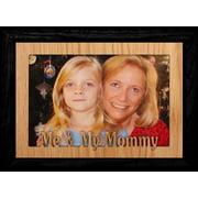 5X7 Jumbo ~ Me & My Mommy Landscape Picture Frame ~ Laser Cut Oak Veneer Mat With Black Frame