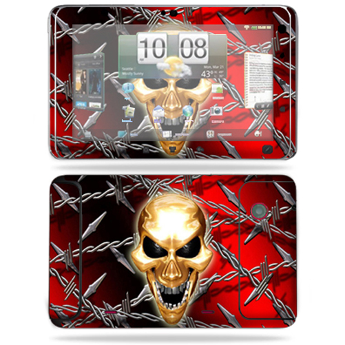 Mightyskins Protective Vinyl Skin Decal Cover for HTC EVO View 4G Android Tablet wrap sticker skins Pure Evil