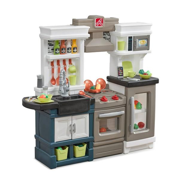 Step2 Modern Metro Play Kitchen With 33 Piece Accessory Play Set Walmart Com Walmart Com